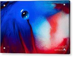 Behind Blue Eye Acrylic Print