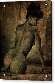 Behind Acrylic Print by Mary Bassett