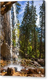 Behind Spouting Rock Waterfall - Hanging Lake - Glenwood Canyon Colorado Acrylic Print