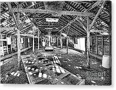 Behind The Barn Doors Acrylic Print by Keith Ducker