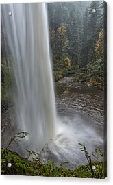 Behind The Falls Acrylic Print by Loree Johnson