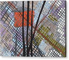 Behind The Fence Acrylic Print by Sandra Church