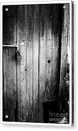 Behind The Locked Door Acrylic Print by John Rizzuto