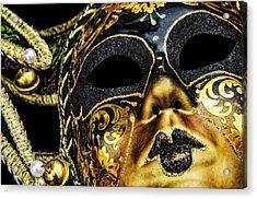 Behind The Mask Acrylic Print by Carolyn Marshall