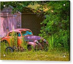 Behind The Old Barn Acrylic Print