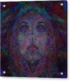Behind The Veil Acrylic Print by Diane Parnell