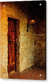 Behold I Stand At The Door And Knock Acrylic Print