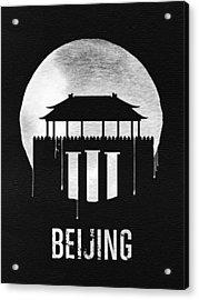 Beijing Landmark Black Acrylic Print by Naxart Studio