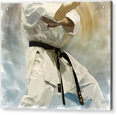 Being A Black Belt Acrylic Print by Deborah Lee