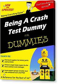 Being A Crash Test Dummy For Dummies Acrylic Print by Mark Fuller
