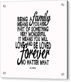Being A Family Acrylic Print