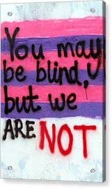 Being Blind Acrylic Print