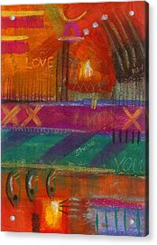 Acrylic Print featuring the painting Being In Love by Angela L Walker