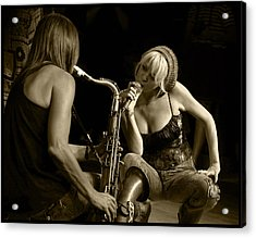 Bekka And Deanne Acrylic Print by Jim Mathis