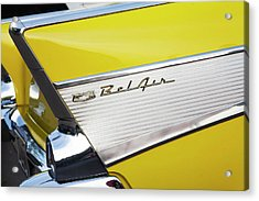 Acrylic Print featuring the photograph Bel Air Tail Fin by Toni Hopper
