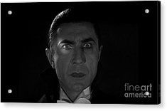 Bela Lugosi  Dracula 1931 And His Piercing Eyes Acrylic Print by R Muirhead Art