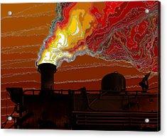 Belching Fire Acrylic Print by Joe Bonita