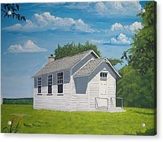 Acrylic Print featuring the painting Belding School by Norm Starks