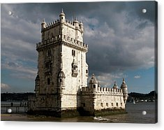 Acrylic Print featuring the photograph Belem Tower In Color by Lorraine Devon Wilke