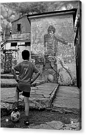 Belfast Boy In Memory Of George Best  Acrylic Print by Donovan Torres