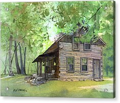 Acrylic Print featuring the painting Belgian Cabin by Kris Parins