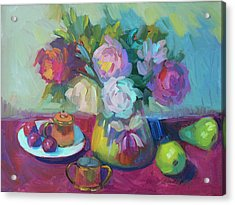 Acrylic Print featuring the painting Belgian Creamer And Sugar by Diane McClary