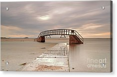 Belhaven Stairs And The Bass At Low Tide Acrylic Print