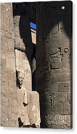 Acrylic Print featuring the photograph Belief In The Hereafter - Luxor Karnak Temple by Urft Valley Art