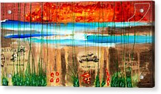 Believe A Faint Memory Incomplete Places Acrylic Print by Nathan Paul Gibbs