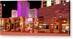 Acrylic Print featuring the photograph Believe Reno Nevada by Scott McGuire