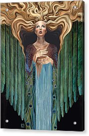 Acrylic Print featuring the painting Believer by Ragen Mendenhall