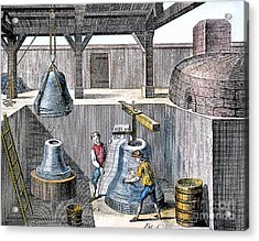 Bell Casting, 1763 Acrylic Print by Granger