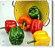 Bell Peppers Acrylic Print by Jimmy Ostgard