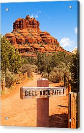 Bell Rock Path In Sedona Arizona Acrylic Print by Susan Schmitz