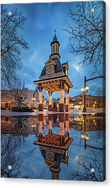 Bell Tower  In Beaver  Acrylic Print by Emmanuel Panagiotakis