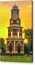 Bell Tower At Christopher Newport University C N U Acrylic Print