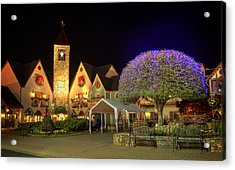 Bell Tower Square Christmas Acrylic Print