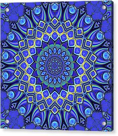 Acrylic Print featuring the digital art Bella - Blue by Wendy J St Christopher