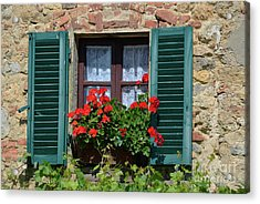 Acrylic Print featuring the photograph Bella Italian Window  by Frank Stallone