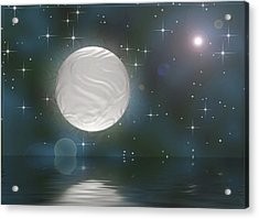 Acrylic Print featuring the digital art Bella Luna by Wendy J St Christopher