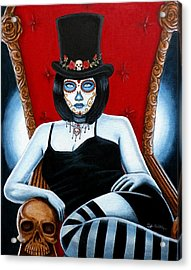 Acrylic Print featuring the painting Bella Muerte 2016 by Al  Molina