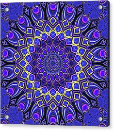 Acrylic Print featuring the digital art Bella - Purple by Wendy J St Christopher