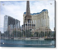 Bellagio Fountain 1 Acrylic Print by Anita Burgermeister