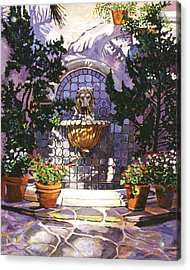 Bellagio Fountain Acrylic Print by David Lloyd Glover
