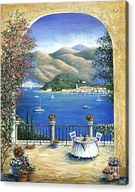 Bellagio Lake Como From The Terrace Acrylic Print by Marilyn Dunlap