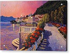 Bellagio Lake Como Acrylic Print by Santo De Vita