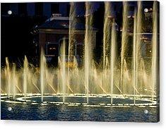 Bellagio Light Show - Lasvegas Acrylic Print by Neil Doren
