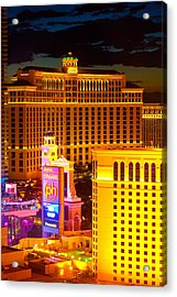 Bellagio  Planet Hollywood  Acrylic Print by James Marvin Phelps