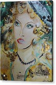 Belle De Nuit Acrylic Print by Victoria Rosenfield
