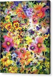 Belle Fleurs I Acrylic Print